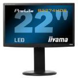 Iiyama ProLite B2274HDS 21.5 inch LED Backlit LCD Monitor 1000:1 250cd/m2 1920 x1080 2ms D-Sub/DVI-D